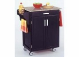 Kitchen Cart in Black with Granite top - 90010043