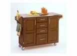 Kitchen Cart in Cottage Oak with Stainless Steel top - 91001062