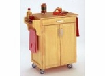 Kitchen Cart in Natural with Wood top - 90010011