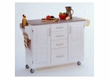 Kitchen Cart in White with Granite top - 91001023