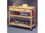 Kitchen Cart with Solid Wood Top - 5216-95