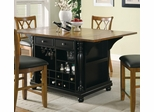 Kitchen Carts Two-Tone Kitchen Island with Drop Leaves - 102270