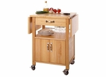 Kitchen Drop Leaf Microwave Cart - Winsome Trading - 84920
