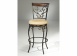 Knightsbridge Swivel Counter Stool with Wood/Metal Back - Hillsdale Furniture - 4940-826