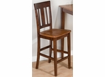 Kura Espresso and Canyon Gold Counter Height Stool - Set of 2 - 875-BS265KD