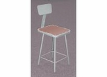 "Lab Stool - 25""-33"" Adjustable Stool with Backrest - National Public Seating - 6324HB"