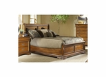 Lafayette Low Profile Sleigh Bed American Oak - Largo - LARGO-ST-B4350-LOPRO