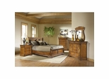Lafayette Low Profile Sleigh Bedroom Set 5 Pc American Oak - Largo - LARGO-WG-B4350-LOPRO-5PC-SET