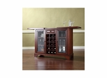 Lafayette Sliding Top Bar Cabinet in Vintage Mahogany - CROSLEY-KF40002BMA