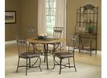 Lakeview 5-Piece Round Dining Set with Slate Chairs in Brown - Hillsdale Furniture - 4264DTBRDCS