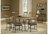 Lakeview 7-Piece Rectangle Dining Set with Wood Chairs in Brown - Hillsdale Furniture - 4264DTBRTCW7