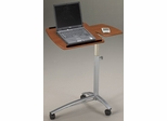 Laptop Caddy in Medium Cherry/Metallic Gray - Mayline Office Furniture - 950MEC