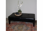 Large Faux Leather Coffee Table in Black - 4D Concepts - 550072