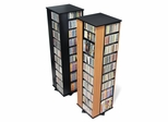 Large Four Sided Spinning Tower in Oak/Black - Prepac Furniture - OMS-1060