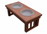 Large Size Mission Raised Pet Diner in Chestnut - NewAgeGarden - EHHF101L