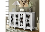 Large White Cabinet with 4 Glass Doors - 950265