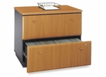 Lateral File Cabinet - Fully Assembled - Series A Natural Cherry Collection - Bush Office Furniture - WC57454ASU
