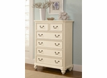 Lea Elite Retreat White 5 Drawer Chest - 149-151