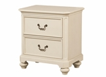 Lea Elite Retreat White Nightstand with 2 Drawers - 149-421