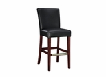 Leather Bar Stool - Black Bonded - Powell Furniture - 273-847