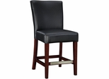 Leather Counter Stool - Black Bonded - Powell Furniture - 273-918