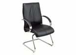 Leather Guest Chair - Office Star - 8205 - Executive Leather Guest Chair