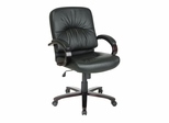 Leather Mid Back Chair - Office Star - WD5331
