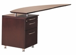 Left Desk Return with File in Mahogany - Mayline Office Furniture - NRTPLMAH