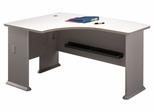 Left Side Bow Desk- Series A Pewter Collection - Bush Office Furniture - WC14533