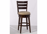 Lenox Swivel Stool, Ladder-back Style in Distressed Dark Chestnut - Hillsdale
