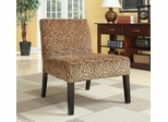 Leopard Pattern Accent Chair with Wood Legs - 900184
