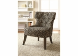 Leopard Print Accent Chair with Lean Tapered Legs - 902066
