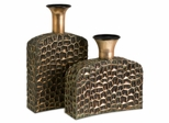 Liana Reptilian Angular Bottles (Set of 2) - IMAX - 12918-2