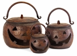 Lidded Pumpkins (Set of 3) - IMAX - 4628-3