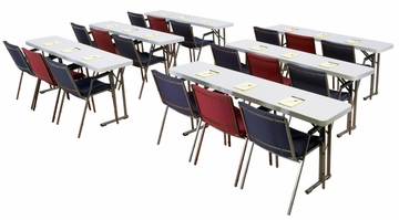"Lightweight Seminar Table 18"" x 72"" - National Public Seating - BT-1872"