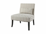 Lila Armless Chair with Striped Fabric - Powell Furniture - POWELL-528-822
