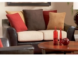 Lily Contemporary Love Seat with Pillow Back - 501892