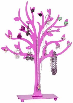 Lisa Metal Tree Jewelry Stand in Pink - 11023