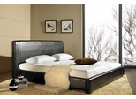Livingston Leather Queen Size Bed Platform - Abbyson Living - LI-HC001-QU