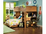 Loft Bed in Sunny Pine - South Shore Furniture - 3342-LBED