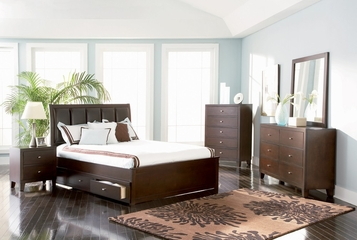 Lorretta Full Size Bedroom Furniture Set in Deep Brown - Coaster - 201511F-BSET