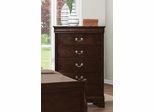 Louis Philippe 202 5 Drawer Chest with Silver Bails - 202415