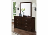 Louis Philippe 202 Six Drawer Dresser in Cappuccino - 202413