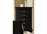 Louis Philippe Drawer Chest - Black Finish - 203965