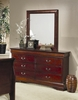 Louis Philippe Dresser with Mirror in Cherry - Coaster - 200433-34-SET