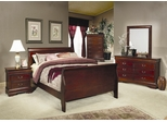 Louis Philippe Full Size Bedroom Furniture Set in Cherry - Coaster - 200431F-BSET