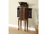 "Louis Philippe ""Walnut"" Jewelry Armoire - Powell Furniture - 741-319"