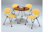 Lunchroom Table and Chairs Set 36 inch Round  - OFM - LR-SET-2