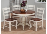 Madison County 5 Piece Dining Set with Lexington Ladderback Chairs - 141-42