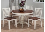 Madison County 5PC Dining Set with Salem Chairs - 141-42